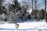 eingeschneiter Garten - außen